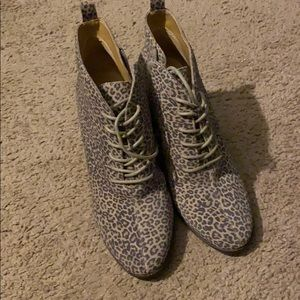 "BN Lucky Brand ""Semihr"" wedge booties 7.5"
